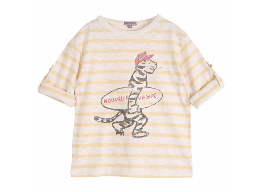 Emile et Ida T-Shirt Raye Vanille