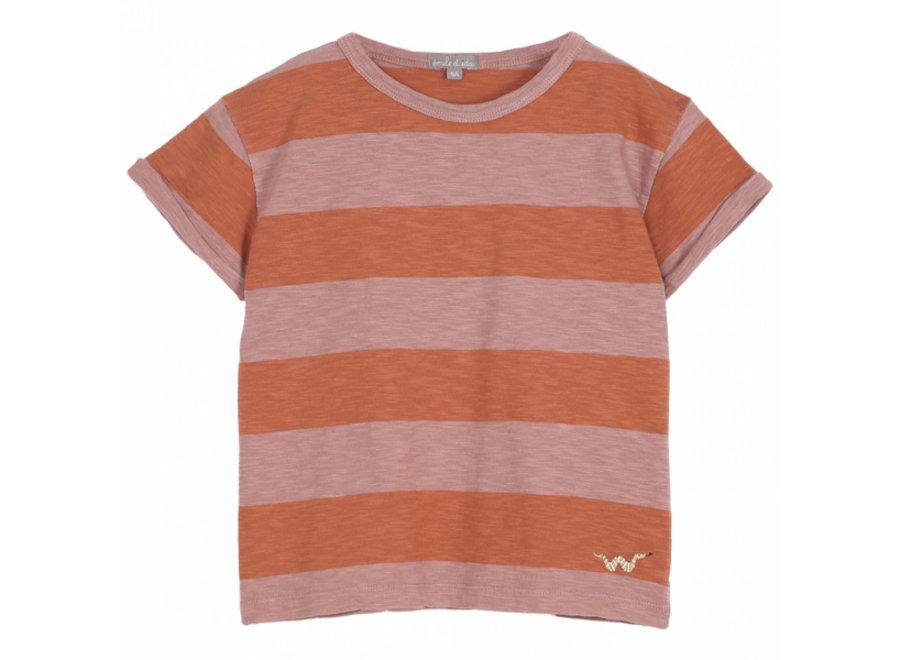 Emile et Ida T-Shirt Terre-Orange