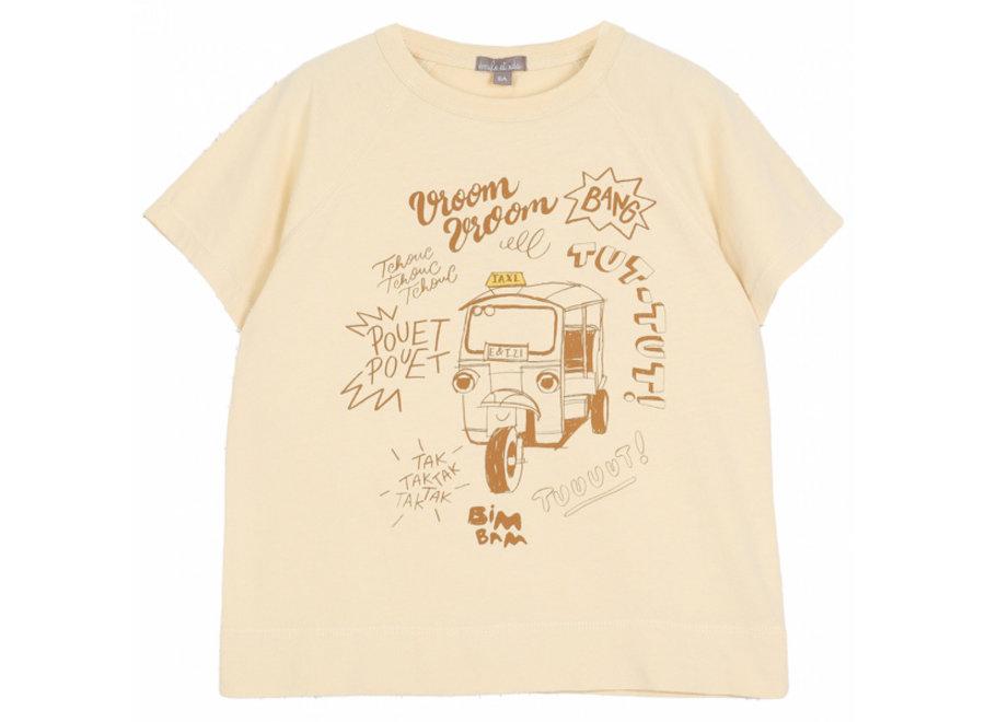Emile et Ida T-Shirt Tuk Tuk Vanille
