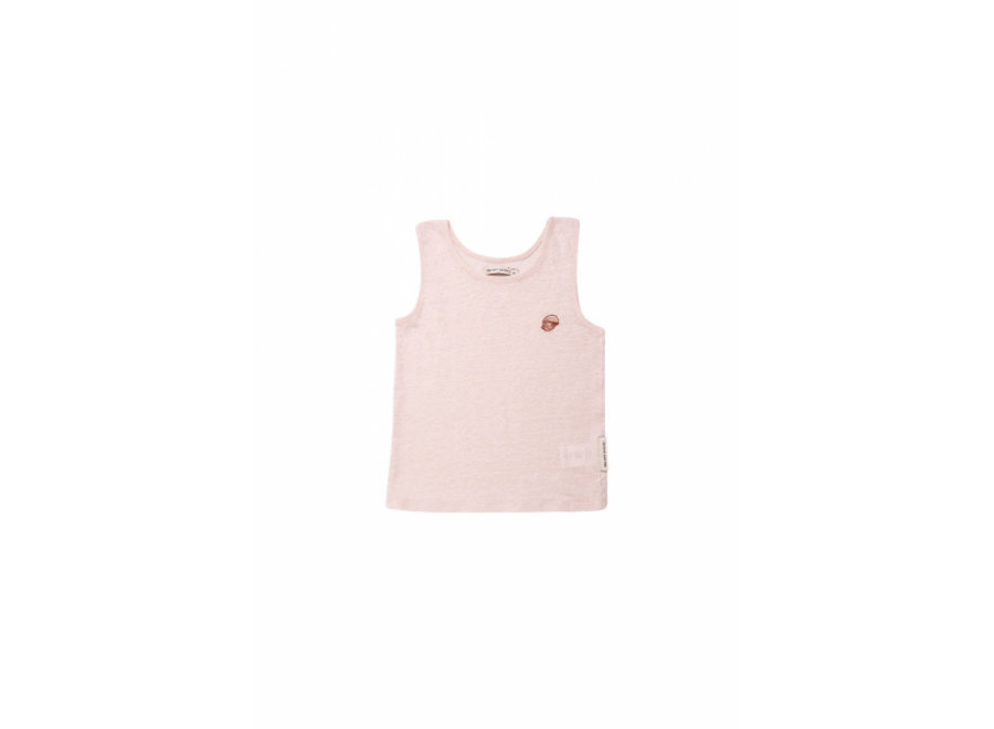 The New Society Ariel Tee Embroidery Blush