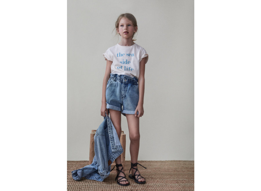 The New Society Lola Short Denim Light Blue