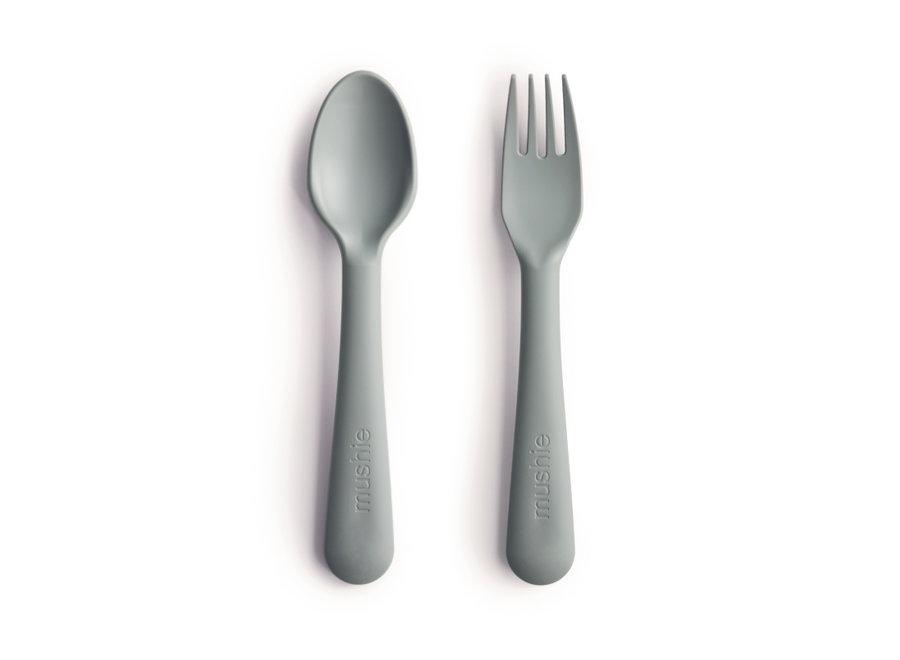 Mushie Fork & Spoon Sage