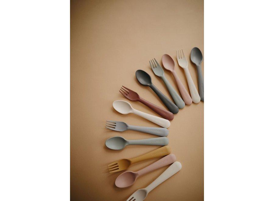 Mushie Fork & Spoon Blush