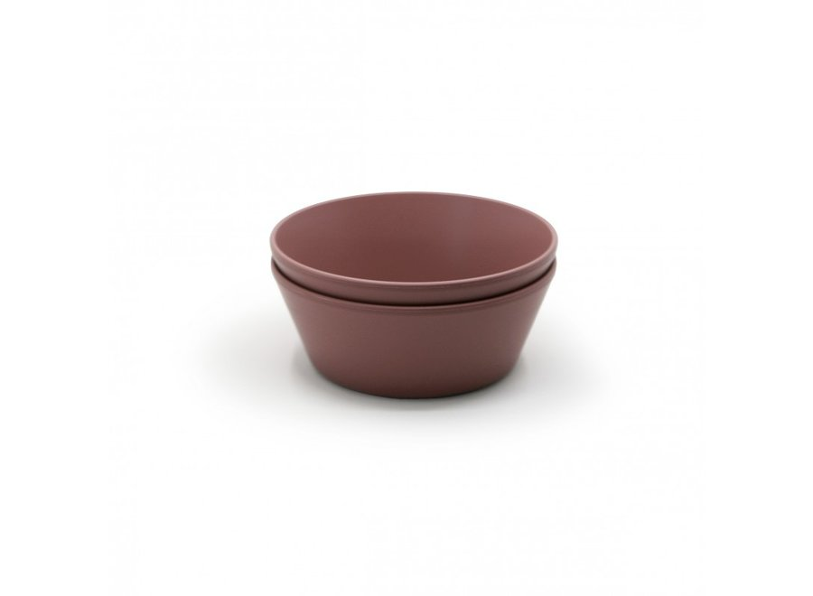 Mushie Bowls Set Of 2 Woodchuck