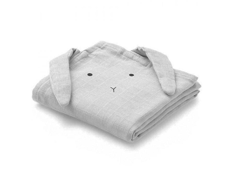 Hannah Muslin Cloth 2-Pack Rabbit Sandy