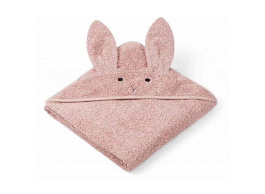 Augusta Hooded Towel Cat Rose