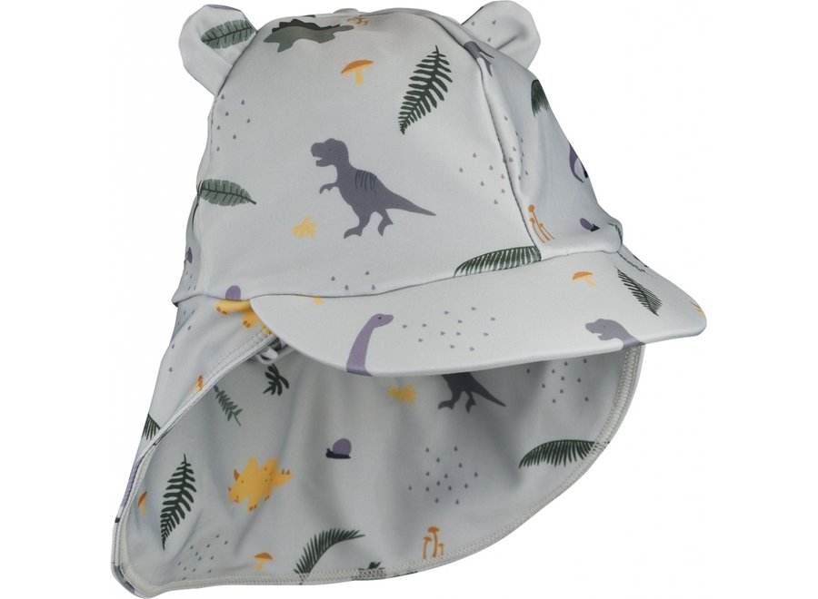 Liewood Senia Sun Hat Dino Dove Blue Mix