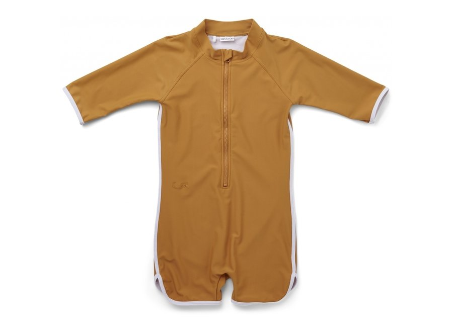 Triton Swim Jumpsuit Mustard