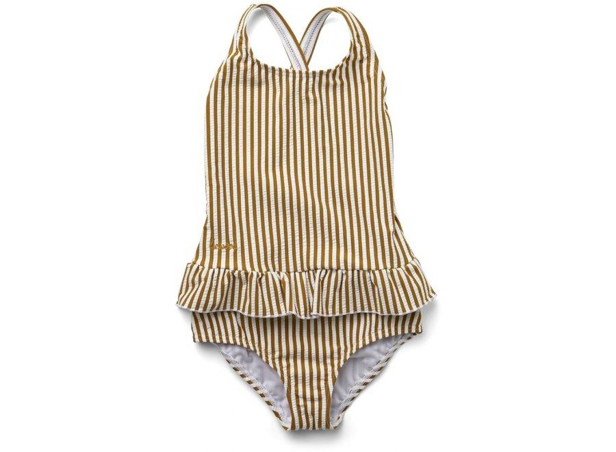 Liewood Amara Swimsuit Mustard/White