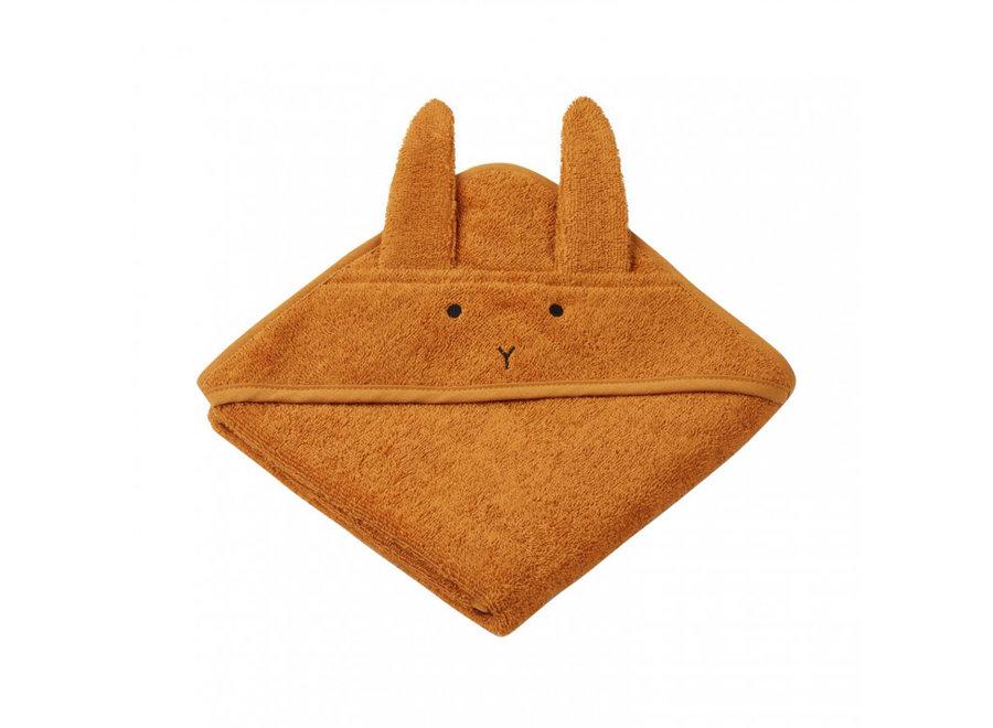 Liewood Albert Hooded Towel Rabbit Mustard