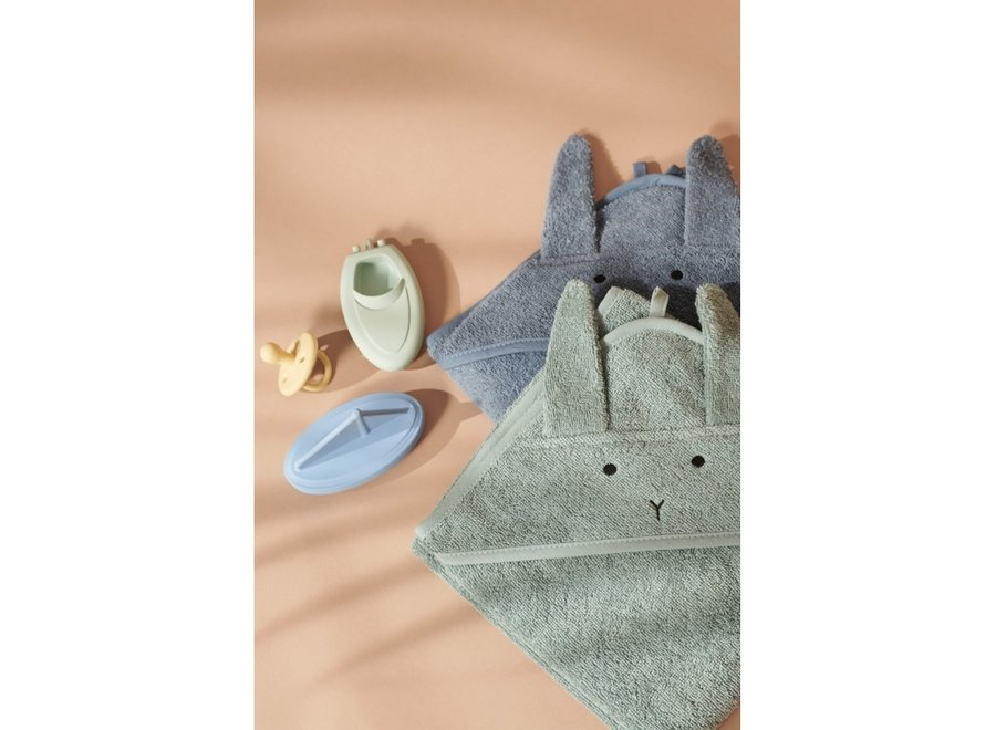 Liewood Albert Hooded Towel Rabbit Blue