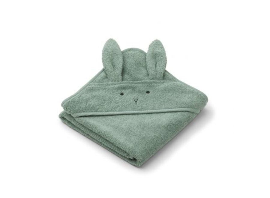 Liewood Albert Hooded Towel Rabbit Peppermint