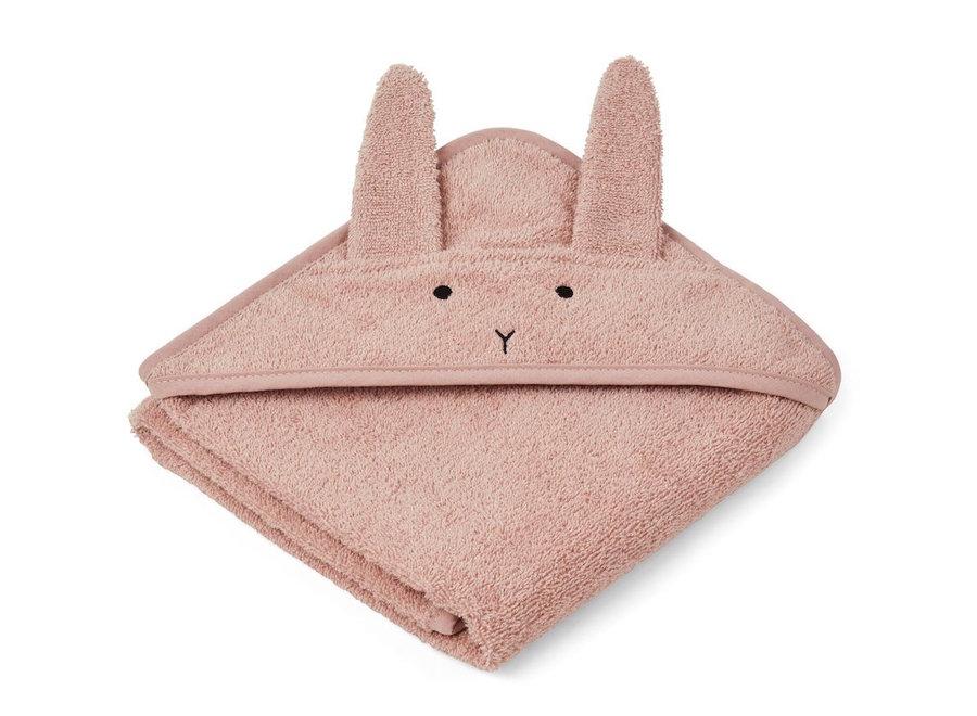 Albert Hooded Towel Rabbit Rose