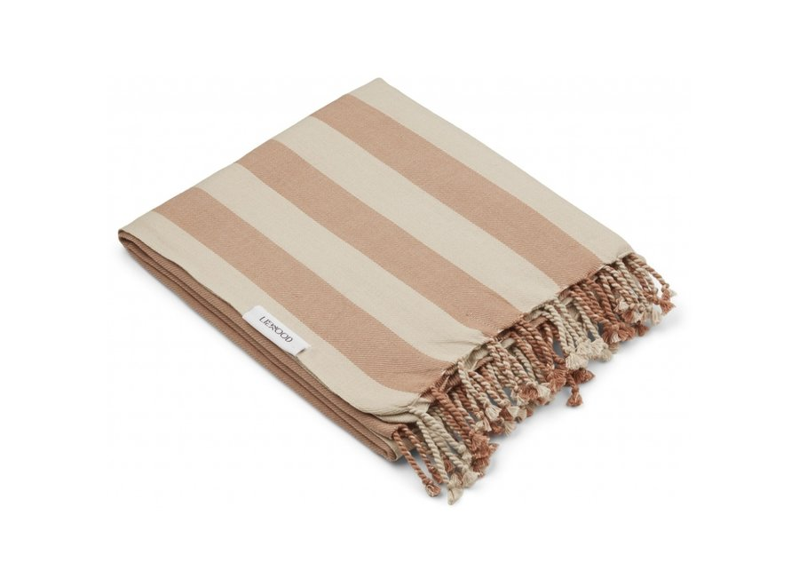 Liewood Mona Beach Towel Tuscany Rose Sandy