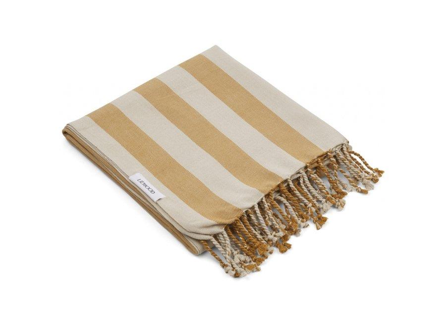 Liewood Mona Beach Towel Mustard Sandy
