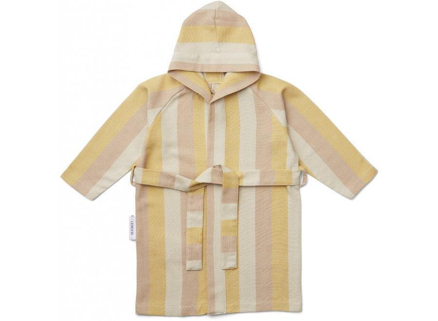Liewood Dana Bathrobe Stripe Peach Sandy Yellow