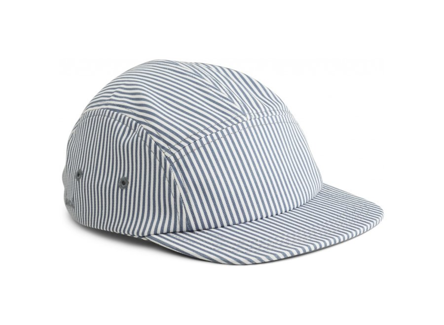 Liewood Rory Cap Stripe Blue Wave Creme