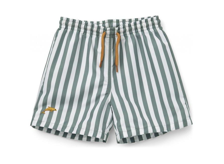 Duke Board Shorts Peppermint White