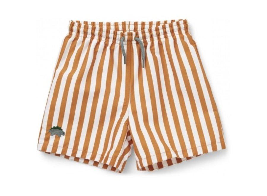 Liewood Duke Board Shorts Mustard White