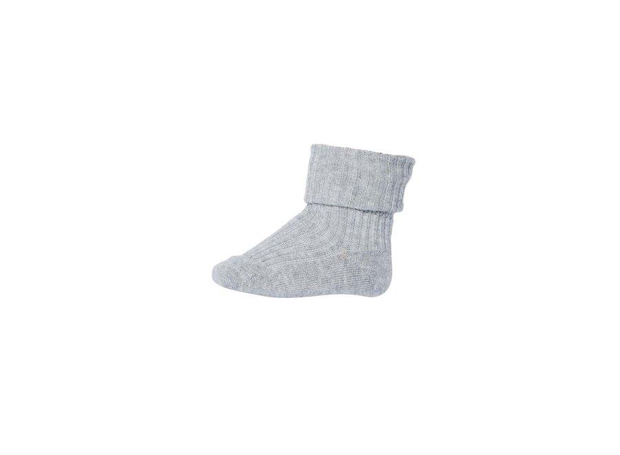 MP Denmark Rib Socks Light Grey Mel