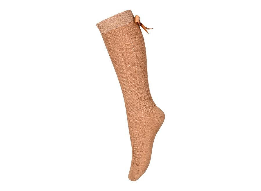 MP Denmark Sofia Knee Socks With Bow Apple Cinnamon