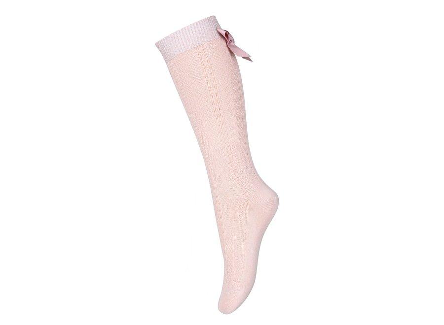 MP Denmark Sofia Knee Socks With Bow Rose Dust