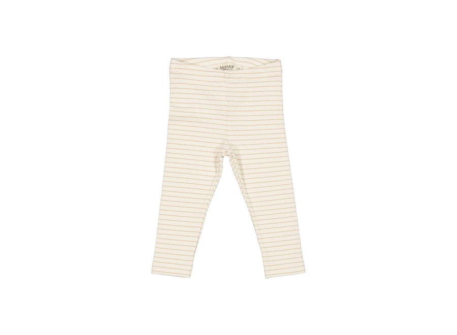 Leg Modal Fine Rib Hay Stripe