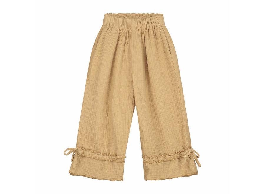 Daily Brat Lynn Ruffle Pants Sand