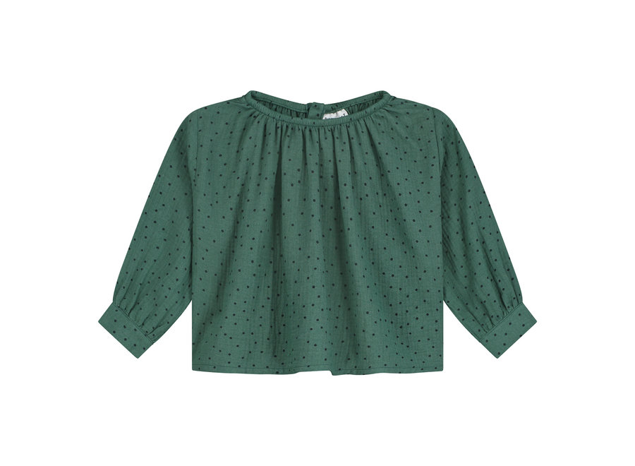 Norida Polka Top Juniper Green