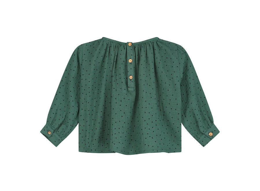 Daily Brat Norida Polka Top Juniper Green
