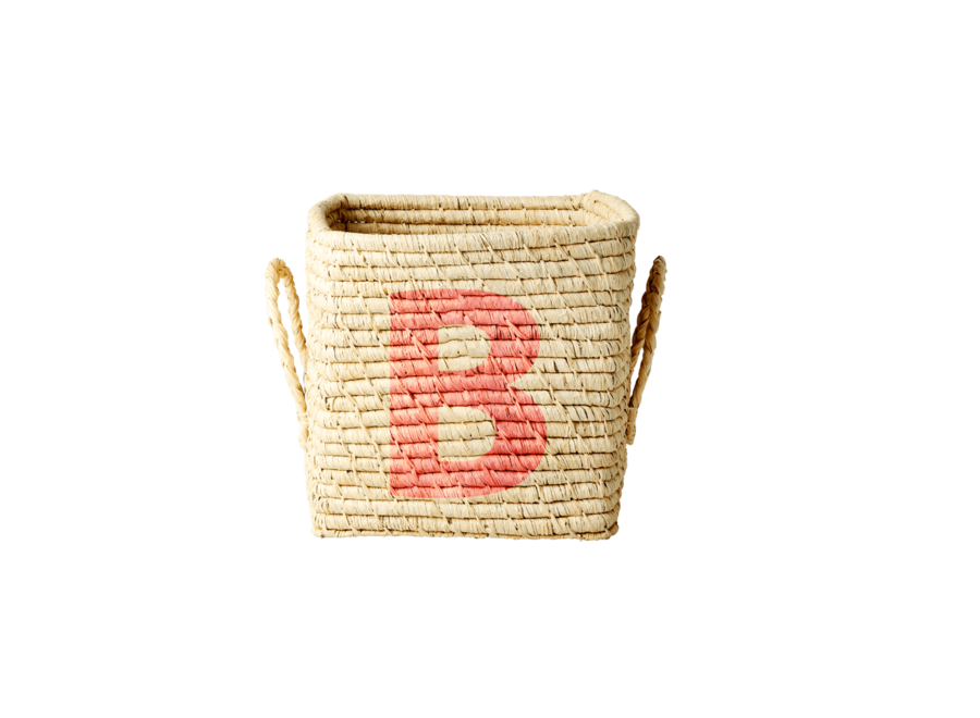 Raffia Basket Letter B
