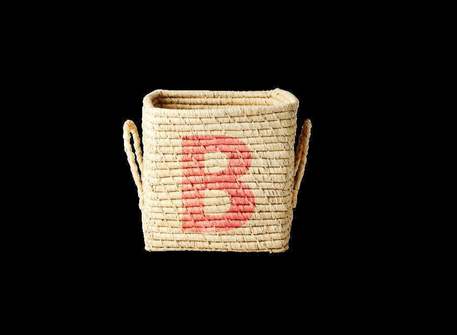 Rice Raffia Basket Letter B