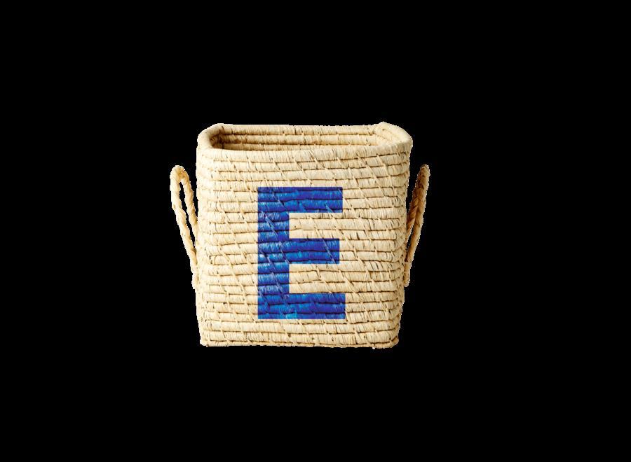 Raffia Basket Letter E
