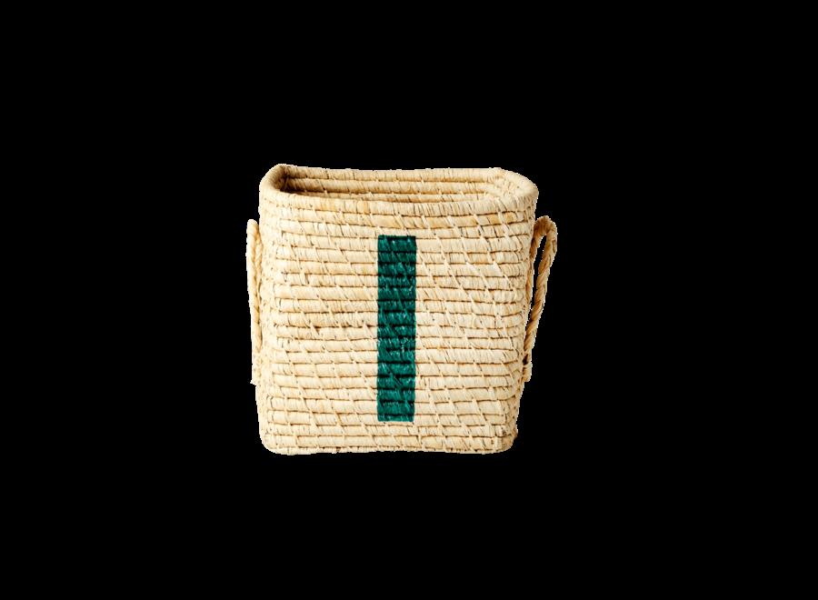 Rice Raffia Basket Letter I