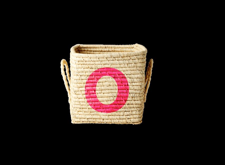 Rice Raffia Basket Letter O