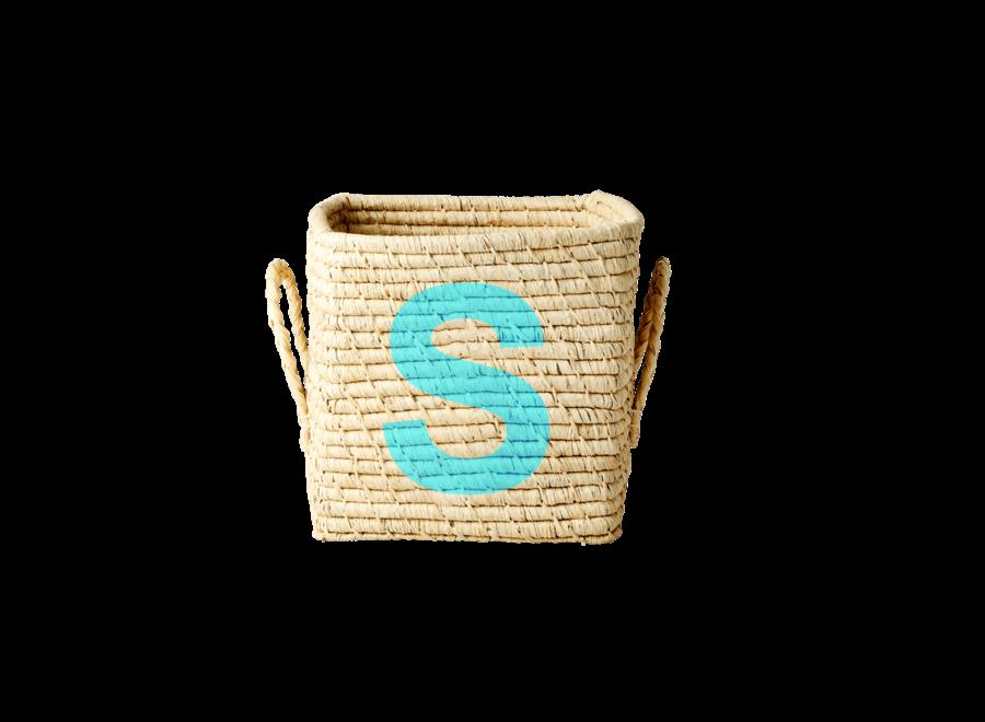 Raffia Basket Letter S