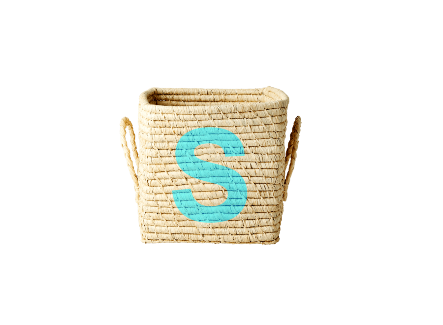 Rice Raffia Basket Letter S