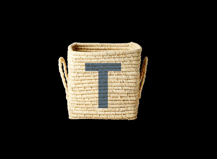 Raffia Basket Letter T