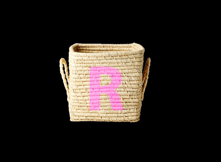 Rice Raffia Basket Letter R