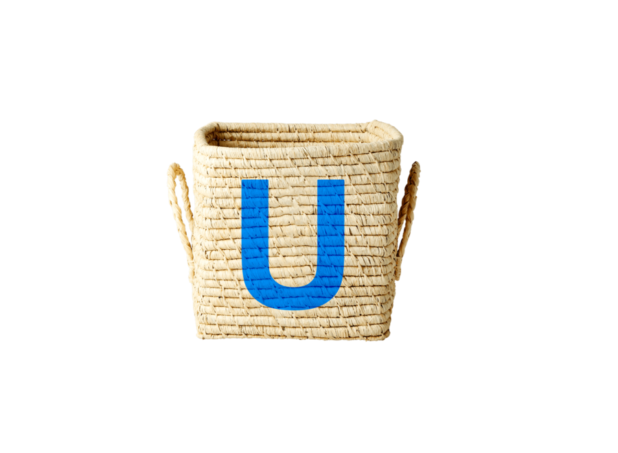Raffia Basket Letter U