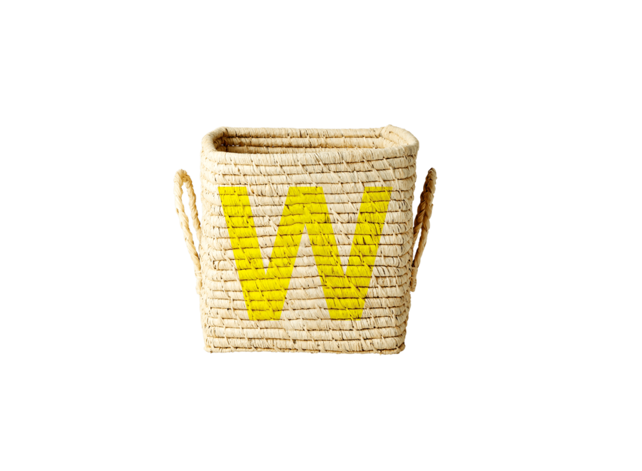 Raffia Basket Letter W