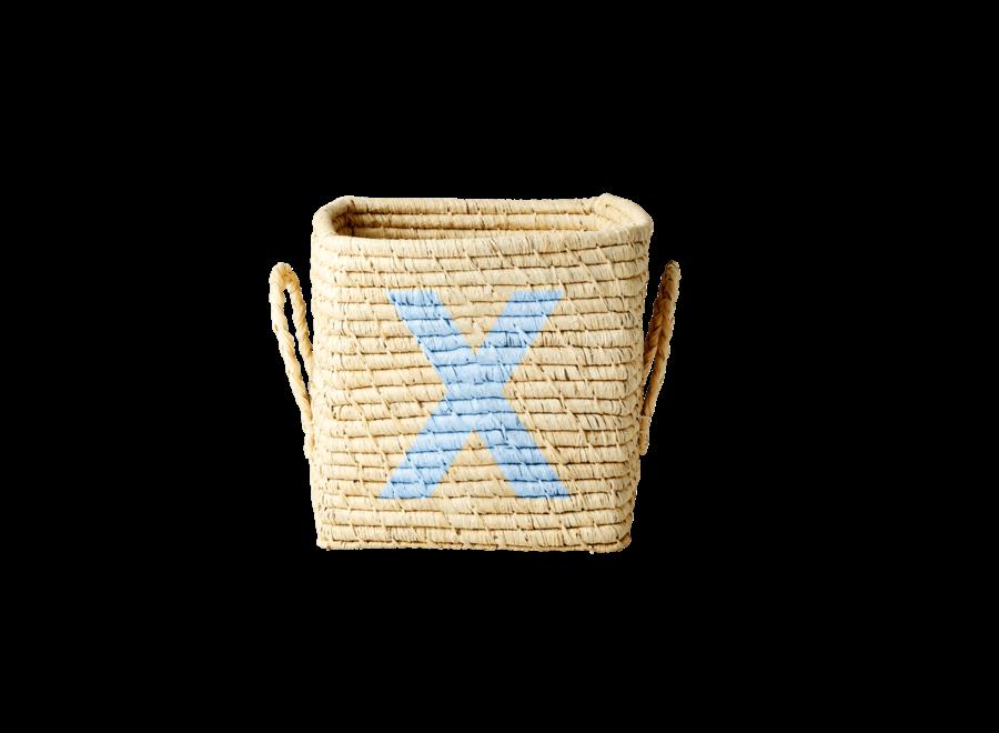 Raffia Basket Letter X