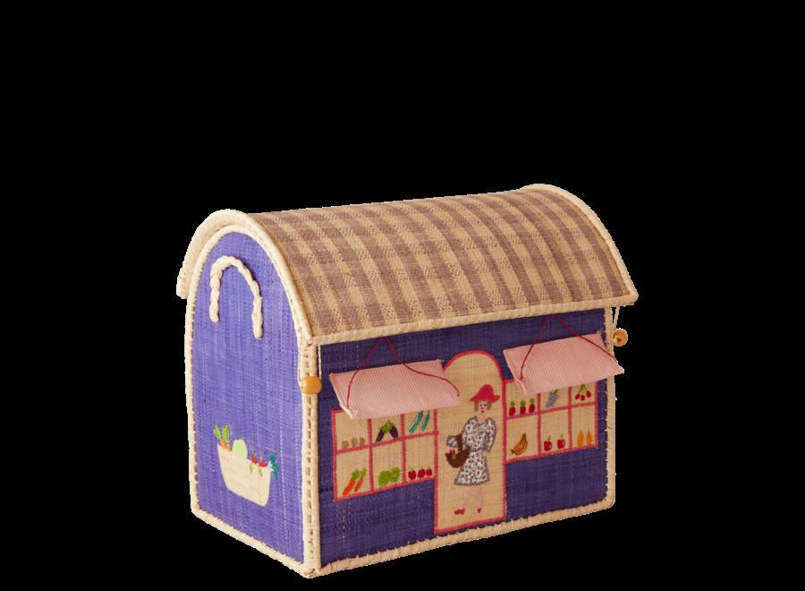 Rice Raffia Basket Shop Small