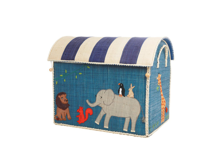 Raffia Basket Animal Large