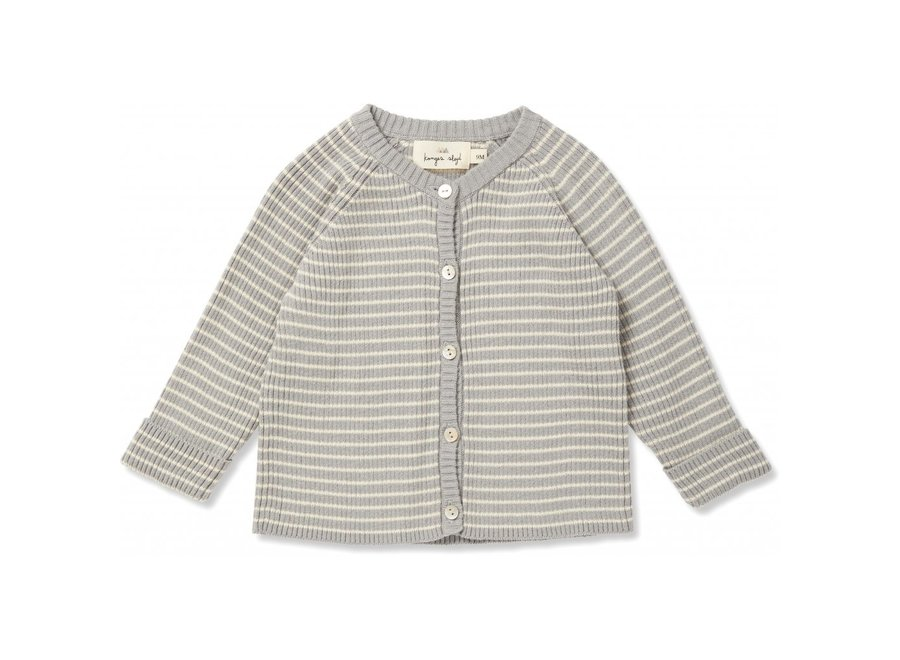 Meo Cardigan Powder Blue Off White