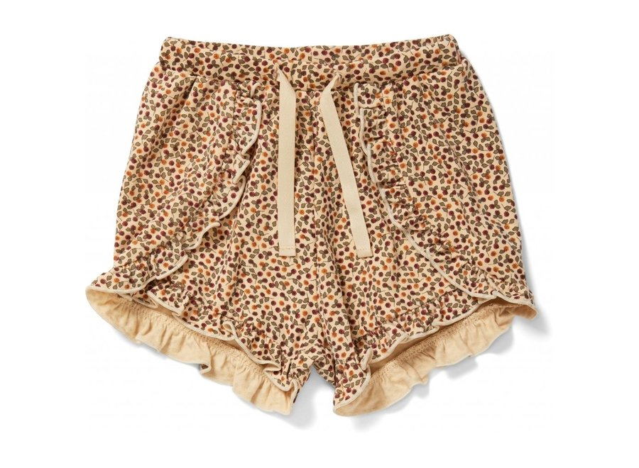 Reya Frill Shorts Rosaraie Red