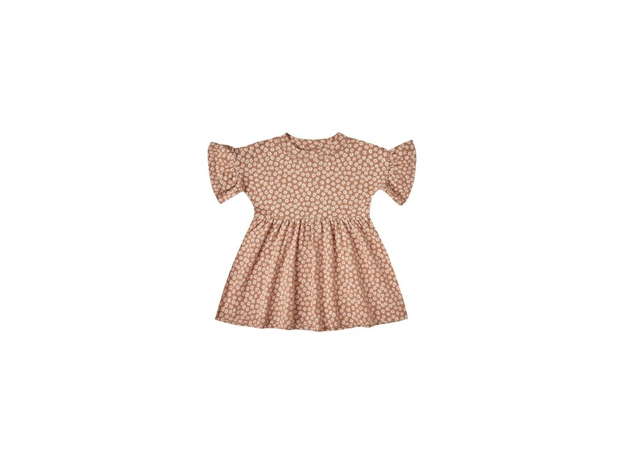 Jersey Babydoll Dress Terracotta