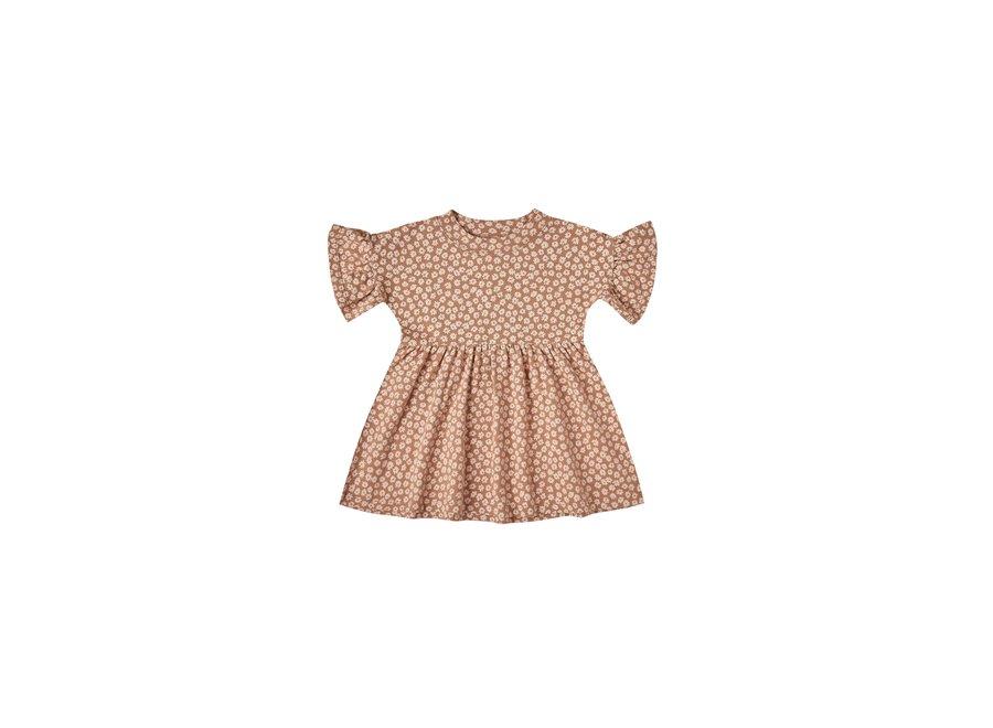 Rylee & Cru Jersey Babydoll Dress Terracotta