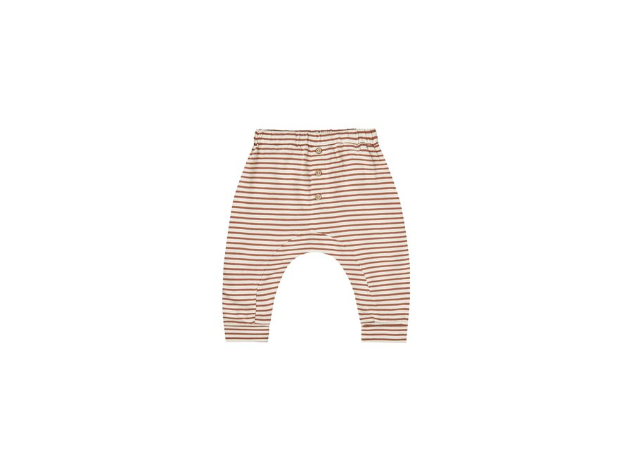 Rylee & Cru Striped Slub Pant Amber Ivory