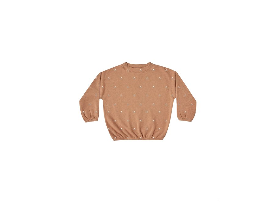 Micro Bud Slouchy Pullover Terracotta